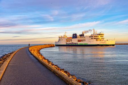 Ferry Puttgarden Fehmarn 写真素材