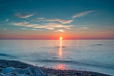 The Sunset over the Baltic Sea