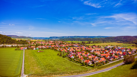 Rothenstein in Thuringia Germany with a view towards Jena Stockfoto