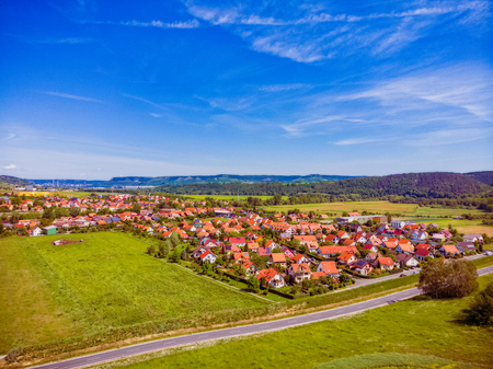 Rothenstein in Thuringia Germany with a view towards Jena Imagens