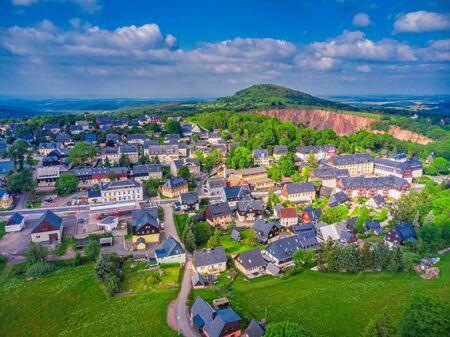 Health resort Altenberg in Saxony in spring 스톡 콘텐츠
