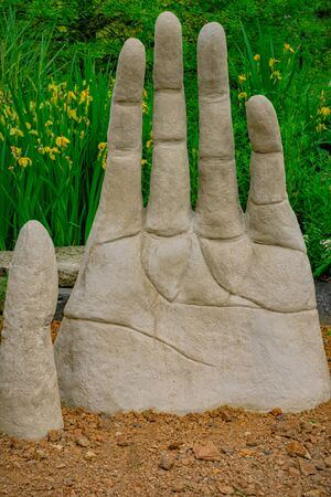 Hand carved out of stone Stock Photo