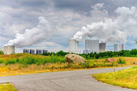 Power plant near a park Stock fotó