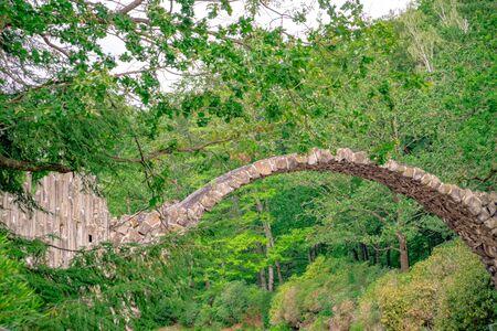 Rakotz Bridge, Azalea and Rhododendron Park in Kromlau Stockfoto