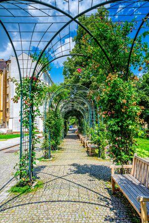 The city garden of Pilsen in the Czech Republic