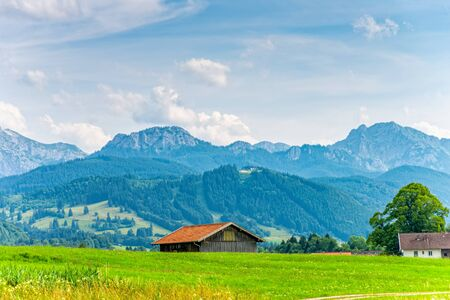 The Alps in the Allgäu in the south of Germany in Bavaria