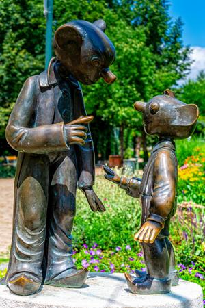 Spejbl & Hurvinek Statues of Pilsen in the Czech Republic