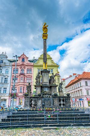 The Plague Column of Pilsen in the Czech Republic Redactioneel