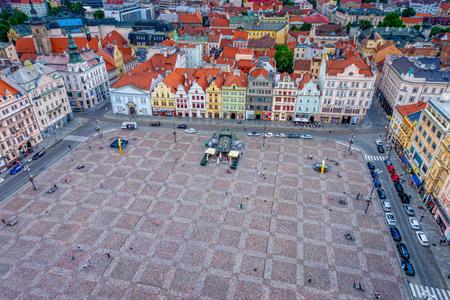 The market square of Pilsen in the Czech Republic Redactioneel