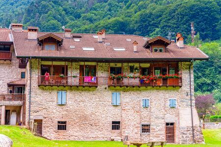 Residential house in Ballino in South Tyrol in Italy in summer