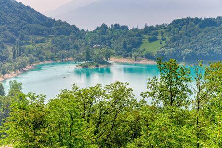 Lake Tenno in South Tyrol in Italy in summer Stockfoto