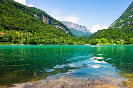 Lake Tenno in South Tyrol in Italy near Lake Garda