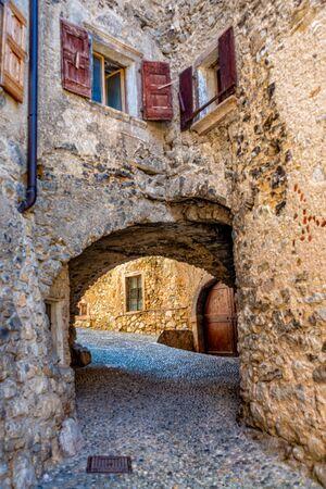 Canale di Tenno in South Tyrol in Italy near Lake Garda