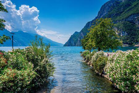 Lake Garda in Italy in summer