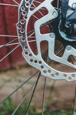 Disc brake on a bicycle