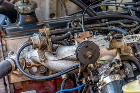 Bloc moteur d'une voiture