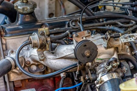 Engine block from a car
