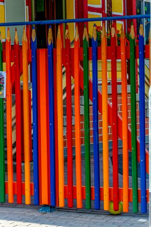 Garden fence that looks like crayons