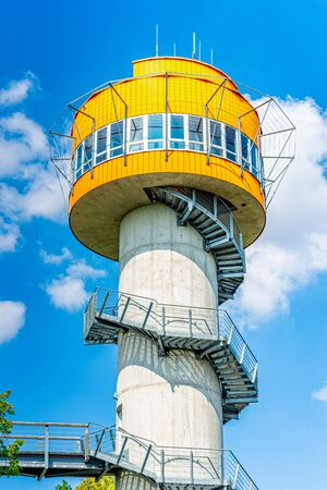 Observation tower at Treetop path in Hainichen in Thuringia Germany