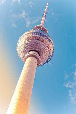 The TV tower in Berlin capital Germany Stockfoto