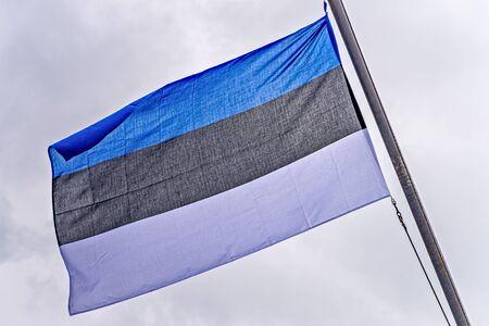 National flag of Estonia in Tallinn