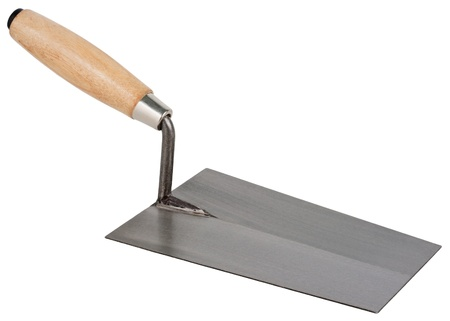 Mason s trowel  Object is isolated on white background without shadows