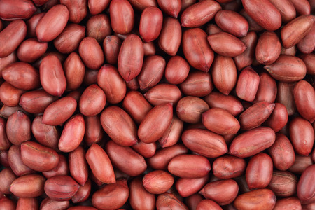 Red grain peanut  on the entire background Stock Photo
