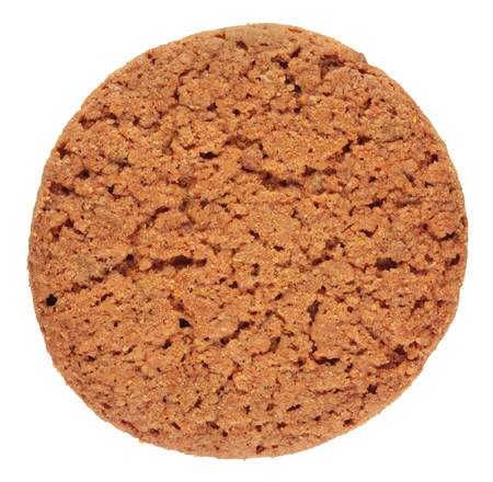 Oatmeal cookie isolated on white background