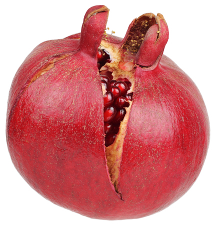 Pomegranate isolated on white background without shadow Stock Photo