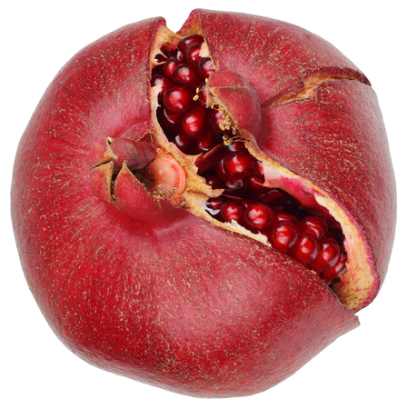 Pomegranate isolated on white background without shadows