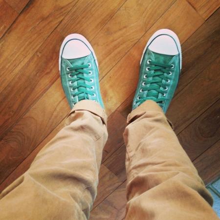 pants: green sneakers