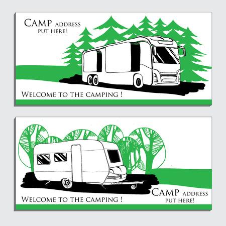 illustrazione delle automobili Recreational Vehicles Camper Vettoriali