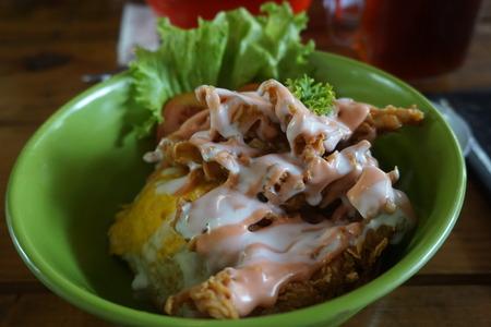 Tomayo Donburi (Rice Bowl) - Japanese Food Stock Photo