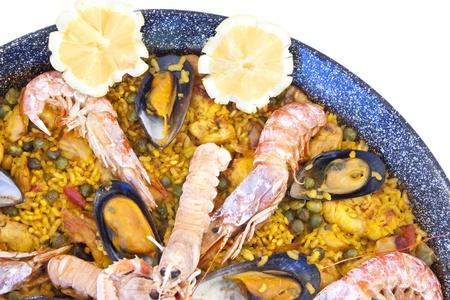 Paella mixta valenciana photo