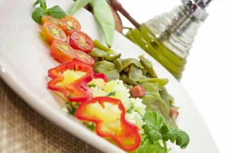 haba: Green beans Stock Photo