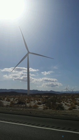Windmills creating natural energy