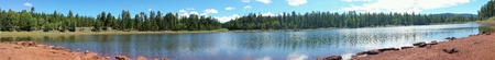 countryside landscape: Panoramic lake landscape