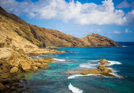 are hidden: Hidden Bay at Porto Santo Stock Photo