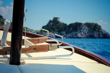 sailling: Positano Boat Trip Stock Photo