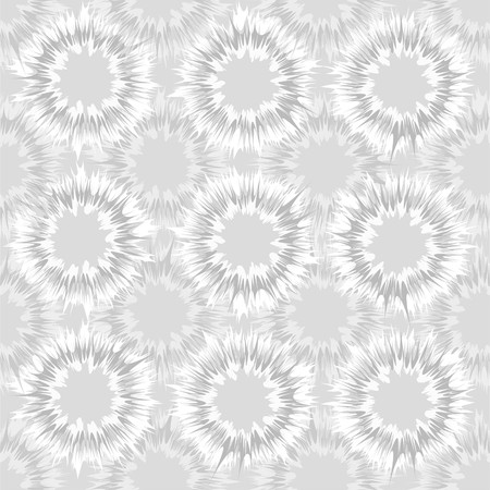 Tie dye circles vector repeat seamless pattern in soft gray tones