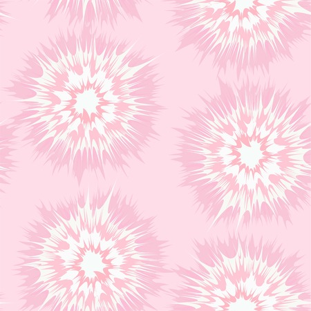 Tie dye circles vector repeat seamless pattern in soft pink
