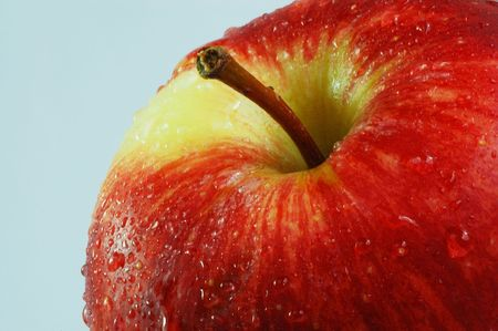 A crunchy red delicious apple