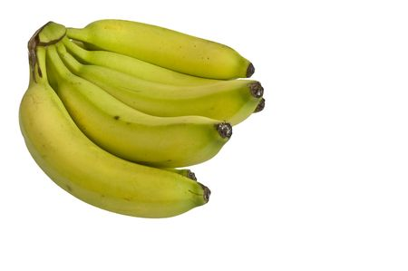 A bunch of fresh bananas