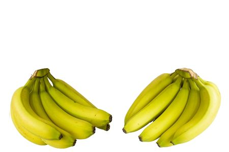 Two bunches of fresh bananas