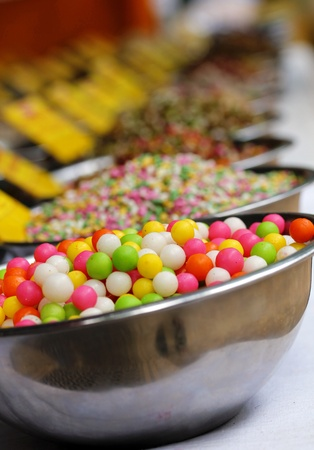 Sweets and spices on display at a shop in bengaluru(bangalore) photo