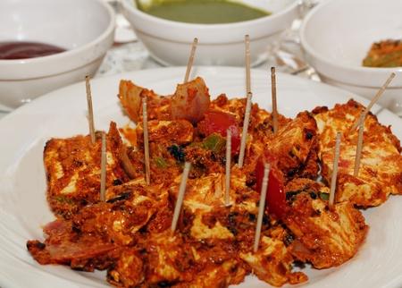 masala: Un plato tradicional de la India hecha de panor�mico de audio y verduras mezcladas con masala