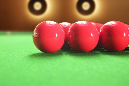 Colorful snooker balls with beautiful circular lights in the background photo