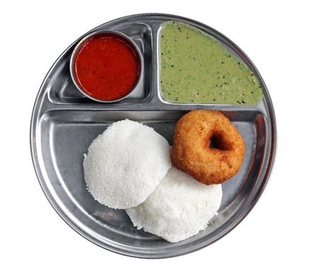 South indian breakfast - idly vada sambar and chutney Stock Photo - 12195868