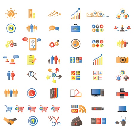 Web Icons, Internet &amp, Website icons, signs and symbols, office &amp, universal icons, icons Set, web buttons Stock Vector - 12436156