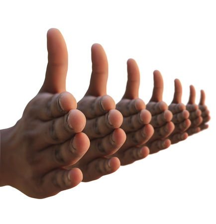 non verbal: Many hands hand shake gesture  Non verbal body language signal